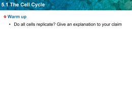 5.1 The Cell Cycle - Science With Ms. Ortiz