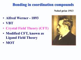 Crystal field theory | studyslide com
