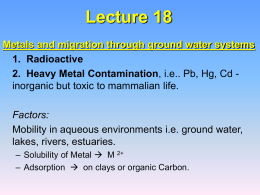 Lecture 18 - Department of Earth and Environmental Sciences