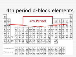 4th period d-block elements