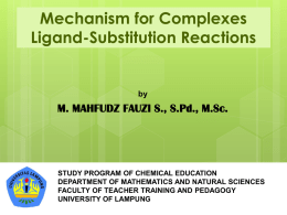 Complexes Ligand-Substitution Reactions