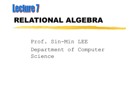 relational algebra - Department of Computer Science