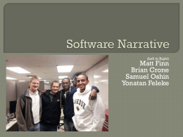 Software Narrative - Purdue College of Engineering
