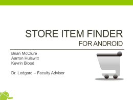 Store Item Finder for Android