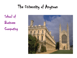 The University of Anytown