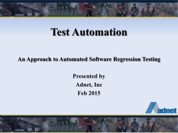 Why Test Automation