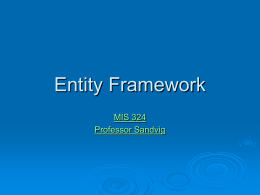 LINQ and the Entity Framework