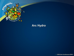 Data models, Arc Hydro, Arc Hydro tools and demo