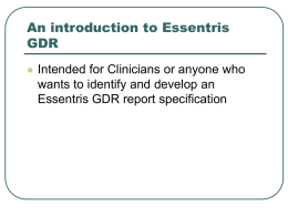 A GDR Introduction for Clinicians