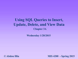 Using SQL Queries to Insert, Update, Delete and View Data