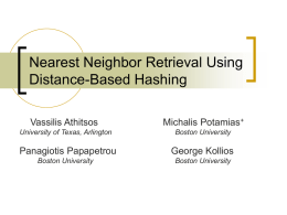 Nearest Neighbor Retrieval Using Distance