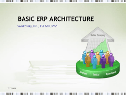 BASIC ERP ARCHITECTURE