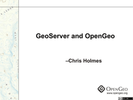 Getting Started with the OpenGeo Stack for SDIs