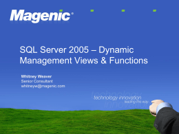 Did You Know? SQL Server 2008 – [Feature]