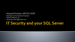 IT Security, SQL Server and You!