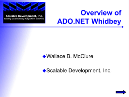 Overview of ADO.NET Whidbey