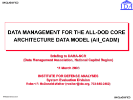 RPW 5-23-95 Slides - DAMA-NCR Data Management Association