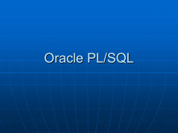 Oracle PL/SQL - Pellissippi State Community College