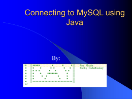Connecting to MySQL using Java
