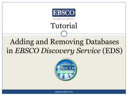 CINAHL Basic Searching - EBSCO Information Services