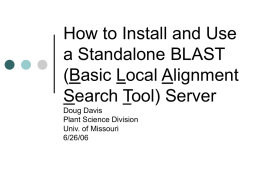 How to Install and Use a Local BLAST Server