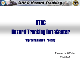 Hazard Tracking DataCenter