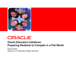 Oracle Education Initiatives - K