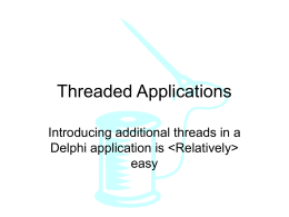 Threaded Applications