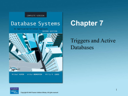 Triggers and Active Databases