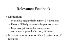 Relevance Feedback