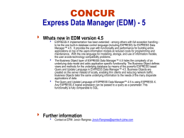 CONCUR IMS implementation