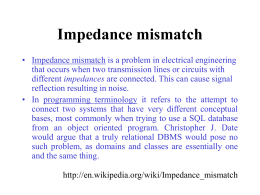 Impedance mismatch - Northumbria University