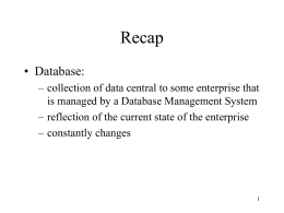 Overview of Databases and DBMS