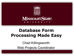 Database Form Processing Made Easy