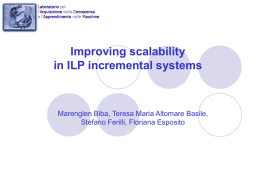 Improving scalability in ILP incremental systems