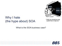 JavaZone - Why I hate SOA