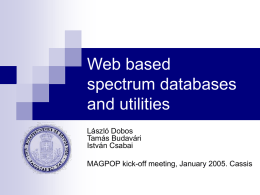 Web based Spectrum Databases and Utilities
