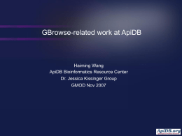 Running GBrowse and DAS/1 on GUS
