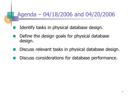 Physical Database Design Presentation