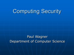 Computing Security