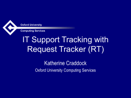 IT Support Tracking with Request Tracker (RT)