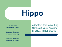 Hippo: A System for Computing Consistent Answers to a Class of
