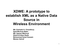 XDWE: A prototype to establish XML as a Native Data Source in