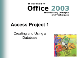 Access Project 1 - MDC Faculty Home Pages