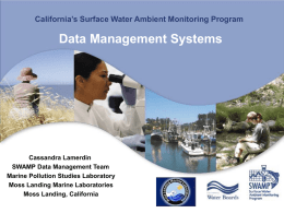 SWAMP (Surface Water Ambient Monitoring Program): California`s