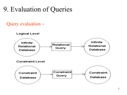 Evaluation of Queries