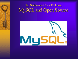 MySQL - Computer and Information Science