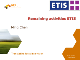 14 Ming Chen ETIS remaining activities
