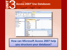 Lesson 2: Structure a Database