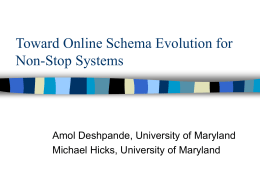 Toward Online Schema Evolution for Non